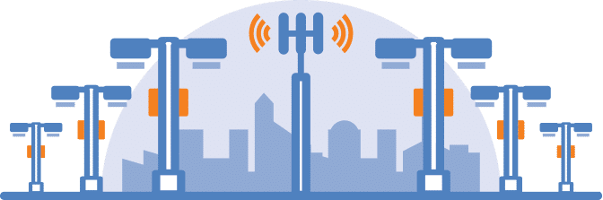 5G small cells in city