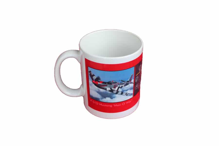 """P-51D MUSTANG """"MAN O'WAR"""" MUG"""