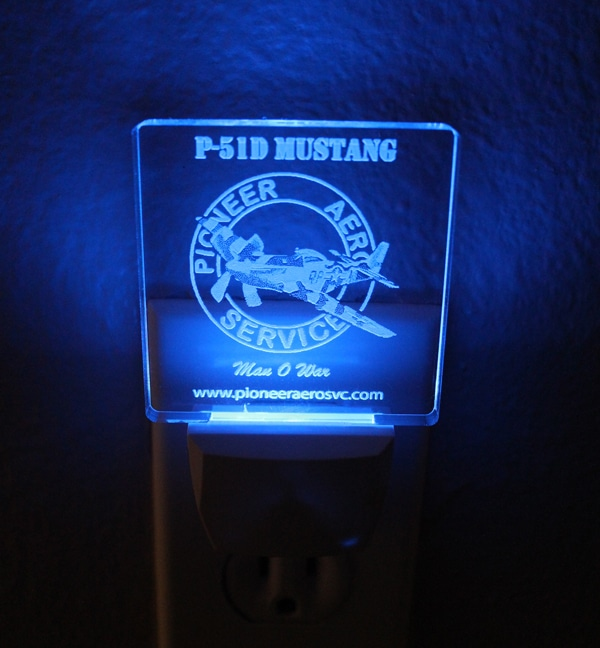 "P-51D MUSTANG ""MAN O'WAR"" NIGHT LIGHT"