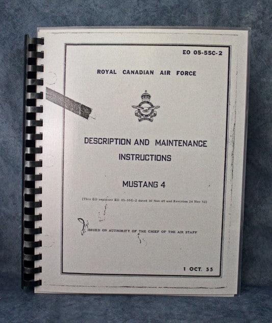 EO 05-55C-2 ROYAL CANADIAN AIR FORCE , MUSTANG 4 DESCRIPTION AND MAINTENANCE MANUAL