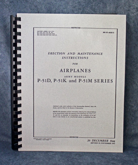 AN01-60JE-2/45C ERECTION AND MAINTENANCE INSTRUCTION MANUAL