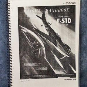 1F-51D-1 USAF F-51D FLIGHT HANDBOOK