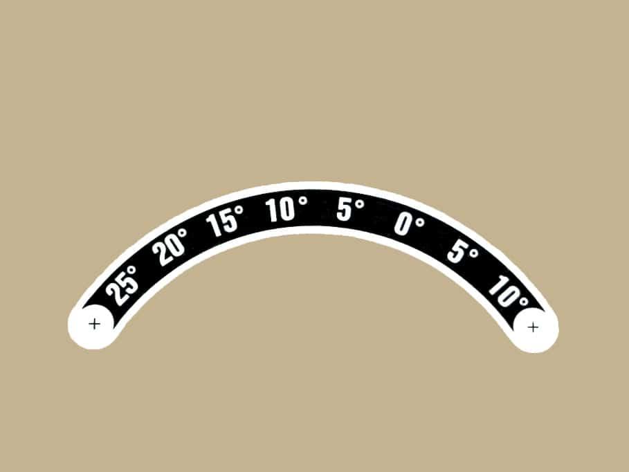 73 525120 ELEVATOR TRIM POSITION PLACARD