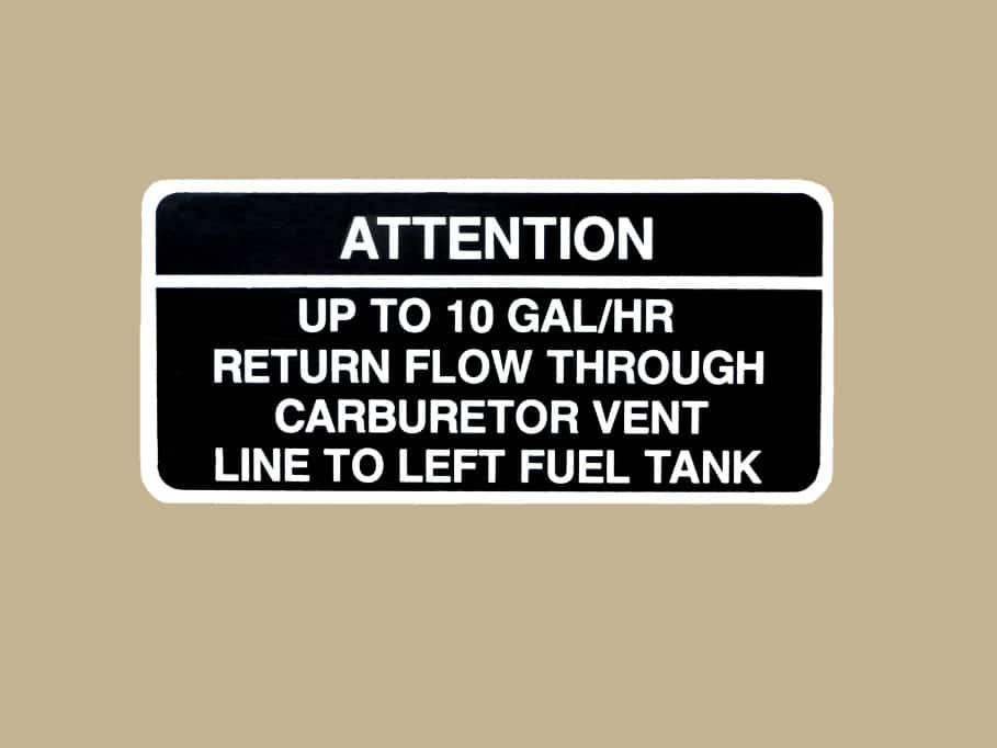 101 10074 WARNING 10 GALLONS PLACARD