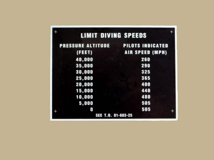 122 53062 LIMIT DIVING SPEEDS